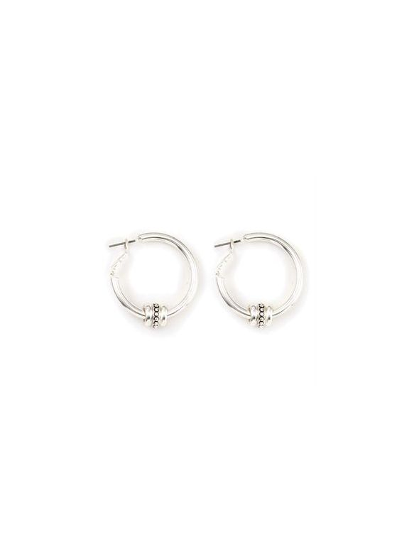 Ella Hoop Silver Earrings