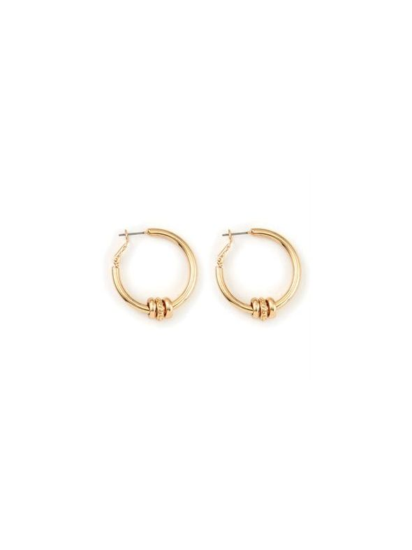 Ella Hoop Gold Earrings