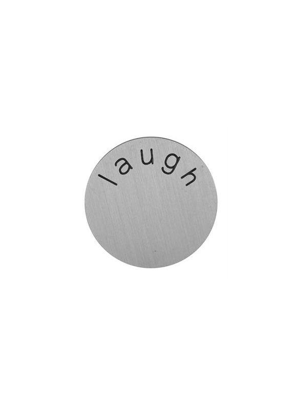 'Laugh' Medium Silver Coin