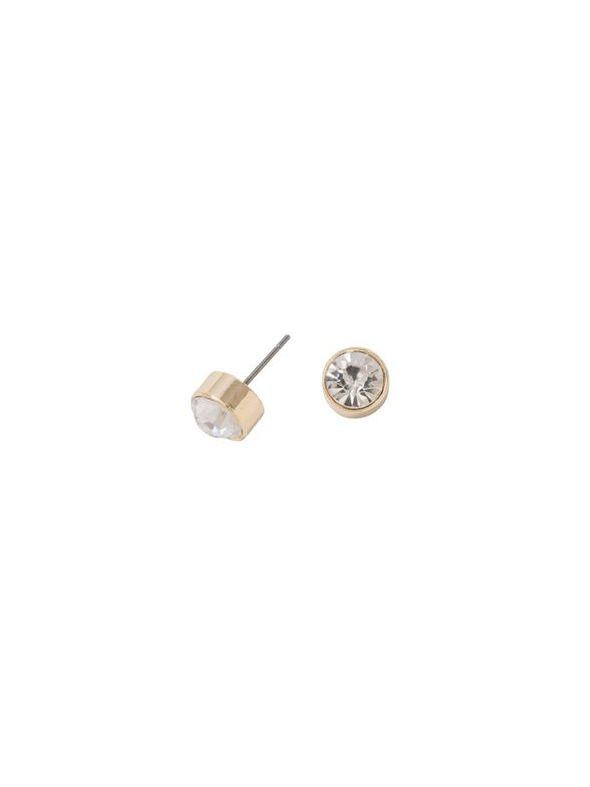 Victoria Stud Gold Earrings