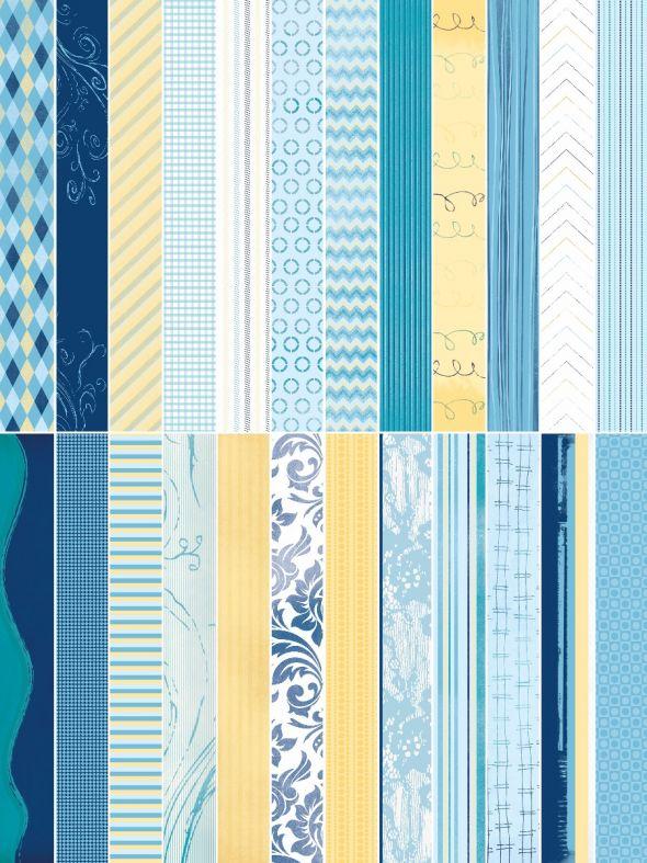 Blue Skies Designer Border Strips